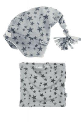 Детски шал и шапка Grey Stars 3