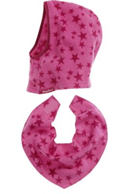 Детски шал и шапка Pink Stars 3