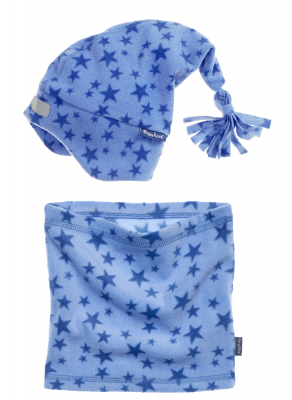 Детски шал и шапка Blue Stars 4