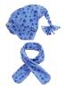 Детски шал и шапка Blue Stars 2